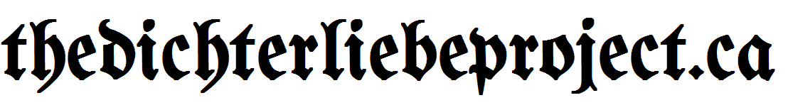 The Dichterliebe Project